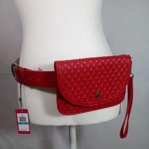 NWT VINCE CAMUTO Red Belt Bag